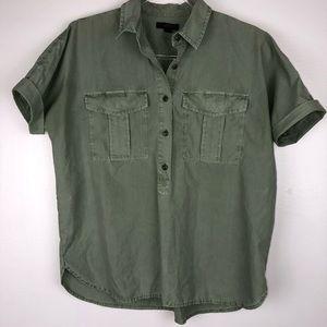 J. Crew Garment Dyed Utility Popover K3774